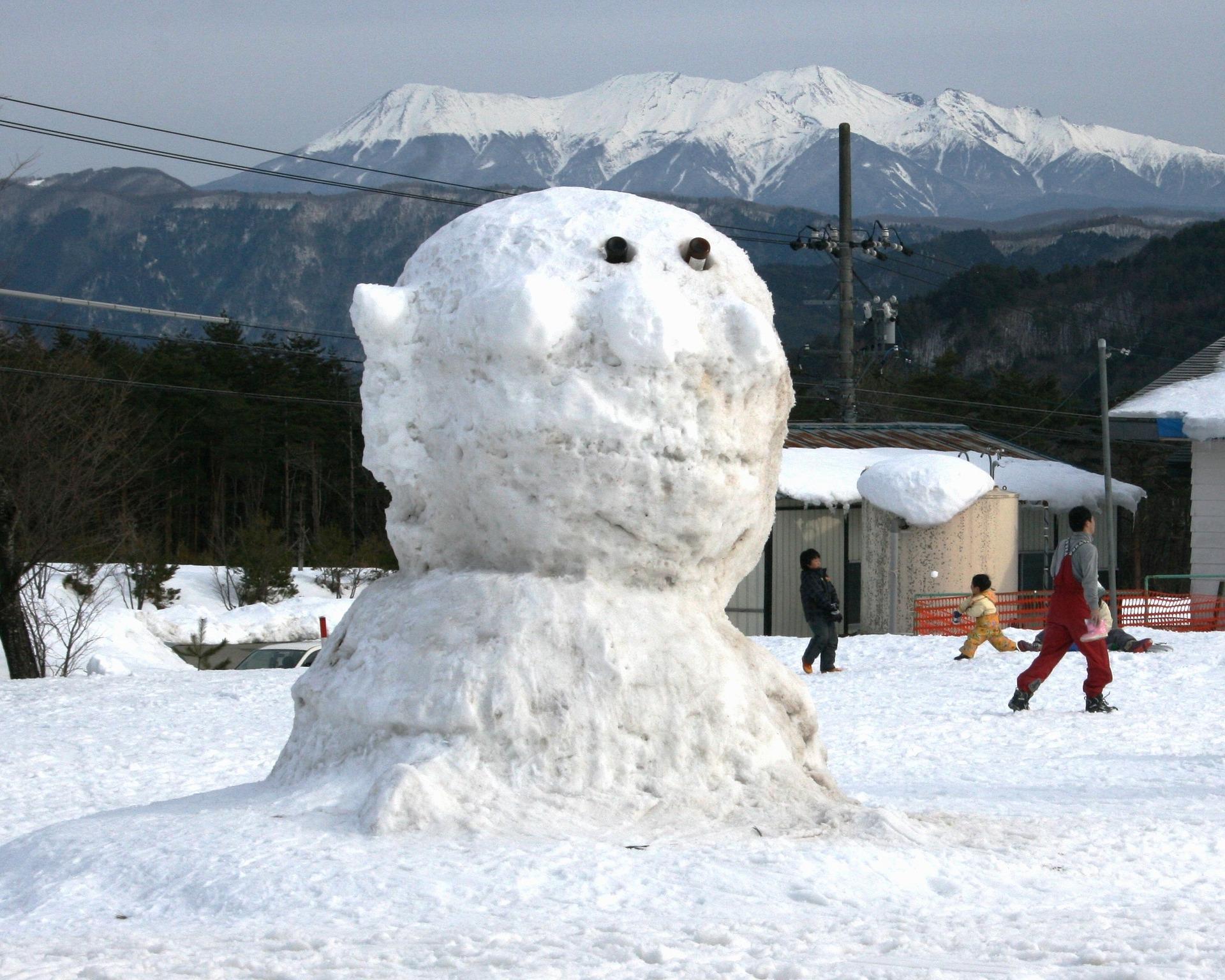 英語 雪だるま